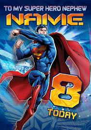 superman 8 today nephew card funky pigeon