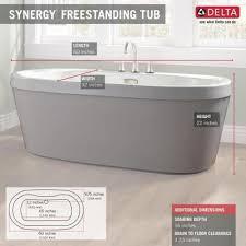 Acrylic Freestanding Bathtub Delta Synergy 5 Ft Acrylic Freestanding Bathtub With Integrated