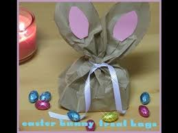 easter bags paper bag easter bunny craft diy paper gift bag idea easter