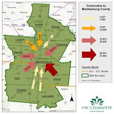 Charlotte Traffic Map Commuting In Charlotte Region Where Do People Work Unc