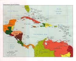 Central And South America Map by Central America And The Caribbean Political Map 1993 Full Size