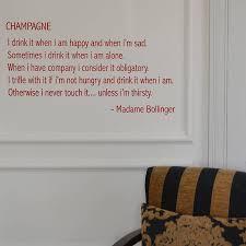champagne quote wall sticker by leonora hammond champagne quote wall sticker