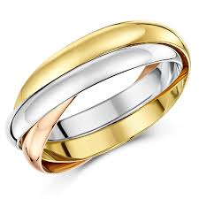 russian wedding rings 3mm 18ct gold 3 colour russian wedding ring 18ct 2 colour gold