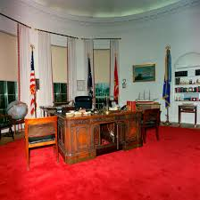 st c416 5 63 redecorated oval office with president john f