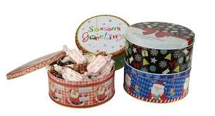 christmas tins sally williams assorted christmas tins gray house promotions