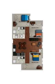 3 bedroom floor plan with dimensions private landlords rentals