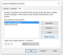 revit coordinates tutorial creating an additional site location for ifc export with neutral