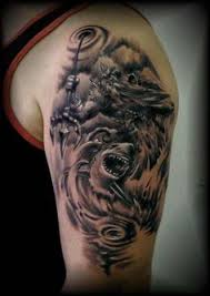 poseidon u0026 shark sleeve u003c u003csleeve tattoos u003e u003e pinterest shark