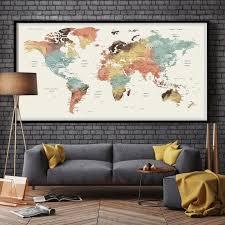 Living Room Wall Art Ideas Best 25 World Map Wall Art Ideas On Pinterest Travel