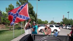 Truck With Rebel Flag Oklahoma Black Man Leads Presidential Protest By Waving