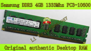 Memory 4gb Pc for samsung original authentic desktop pc ddr3 4gb 1333mhz pc3 10600