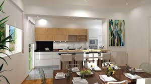 cuisine et salle à manger modele de cuisine ouverte sur salle a manger argileo