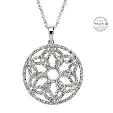 swarovski necklace round images Trinity circle necklace embellished with swarovski crystals jpg