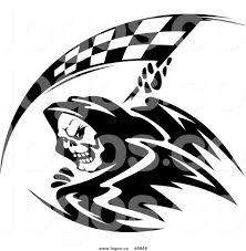 Checkered Flag Eps Royalty Free Clip Art Vector Logo Of A Grim Reaper With A Black