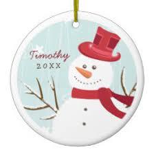snowman ornaments keepsake ornaments zazzle