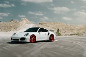 white porsche 911 white porsche 911 turbo s adv07r m v2 cs series centerlock wheels