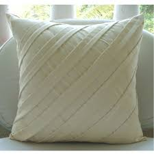 cushion covers for sofa pillows cream decorative pillow cover square textured pintucks