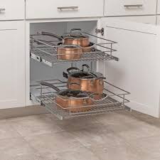 2 tier cabinet organizer shop simply put 20 5 in w x 14 6875 in h metal 2 tier cabinet