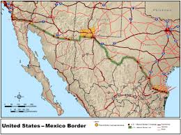 Map Of Southern Usa by Mexico U2013united States Border Wikipedia
