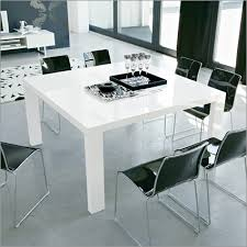 white square kitchen table modern square dining table in glossy white