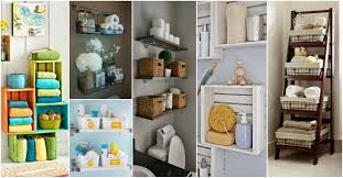 15 lovely diy bathroom storage ideas