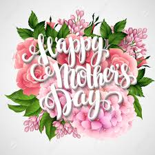 Mother S Day Flower Happy Mothers Day Card With Beautiful Flowers Vector