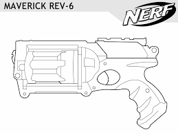 coloring nerf coloring pages epic gun 57 picture