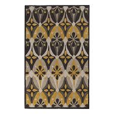 shop surya mamba gray rectangular indoor tufted area rug common
