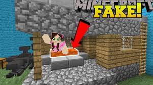 Fake Map Minecraft This House Is Fake Find The Buton Minecraft