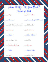 free printable 4th of july scavenger hunts 2 different types