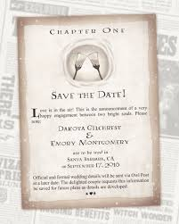 digital save the date harry potter save the date book chapter digital invitations
