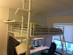 Bunk Bed Shelf Ikea Ikea Tromso Loft Bed Weight Limit One Thousand Designs The