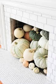 heirloom pumpkin fireplace for fall farmhouse style autumn and