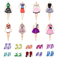 design clothes games for adults amazon com 8 pcs doll clothes party fashionate gown dress 5 pair