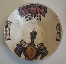 bowl with floral and pseudo calligraphic designs eastern iran or