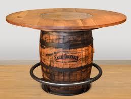 Barrel Bar Table Ruff Sawn Jack Daniels Whiskey Barrel Pub Table