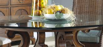 industrial glass dining table decoration round glass dining table with wood base wonderful room