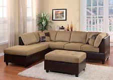 microfiber sectional chaise ebay