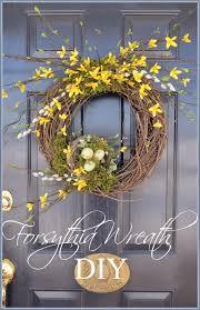 forsythia wreath diy forsythia wreath wreaths and front doors