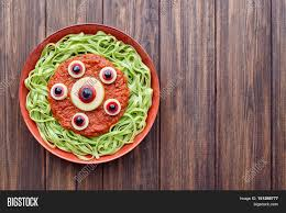 green spaghetti creative pasta scary halloween party food monster