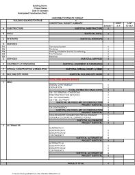 Detailed Construction Cost Estimate Spreadsheet Water Damage Estimate Template Dingliyeya Spreadsheet Templates