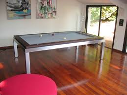 pool dining tables with modern pool table in luminate floor design