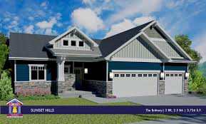Rambler House by Liberty Homes Brittany Floor Plan Rambler Home Stone Accents