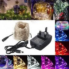 40m led silver wire fairy string light christmas xmas wedding