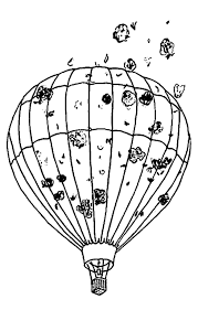 air balloon smoke coloring page wecoloringpage