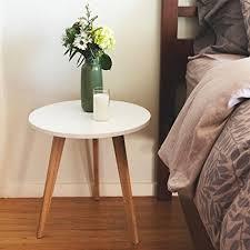 modern round end table amazon com stndrd bamboo end table modern round coffee table