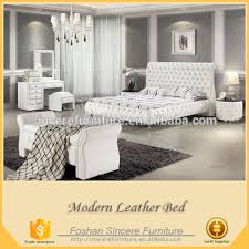 Leather Sleigh Bed Luxe Tufted Bedroom Set American Leather Sleigh Bed Platform Beds