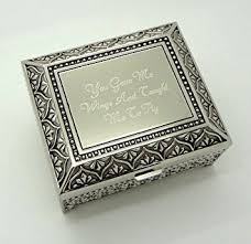 engraved box personalized jewelry box with 3 lines text engraving