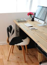 Home Office Wood Desk Diy Desks That Really Work For Your Home Office