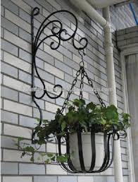 outdoor patio garden wall decor wrought iron flowers pot metal